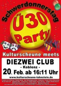 Ü-30 Party am Schwerdonnerstag