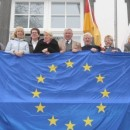 Europaflagge am Rathaus gehisst